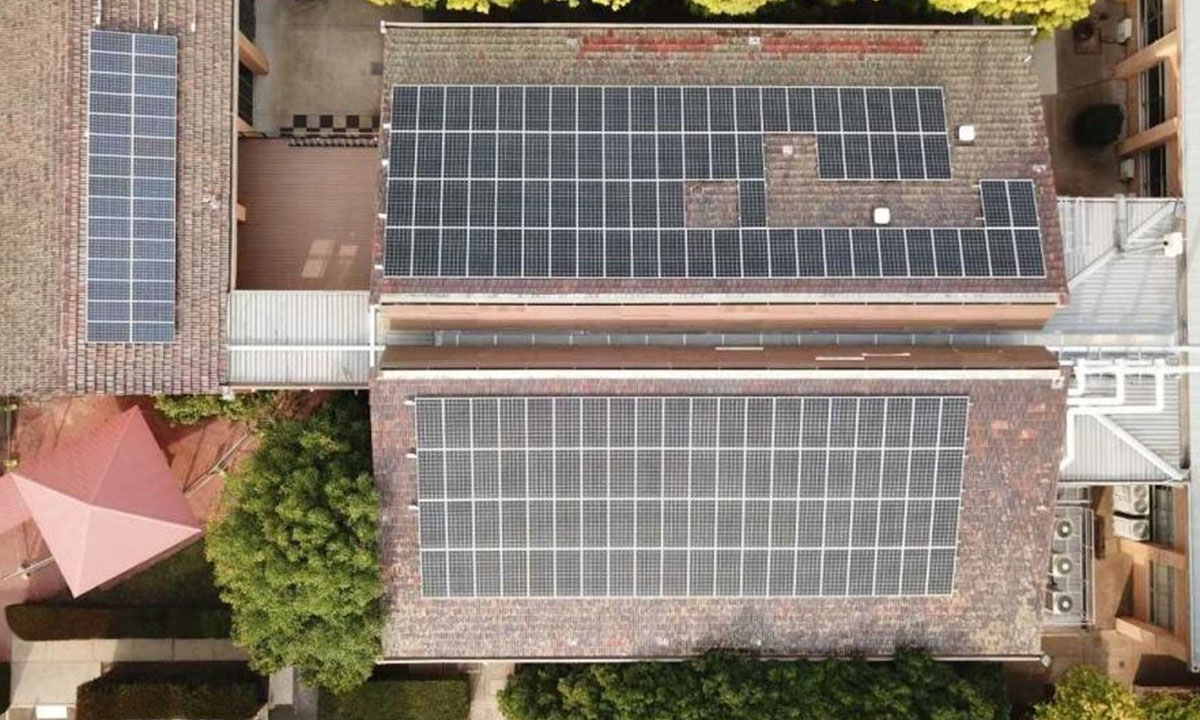 Merici College solar installation